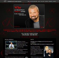 Edward Katz Hair Design launches a new and improved website.