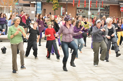 Celebrate National Dance Week with us!  FlashMob in Directors Park 1pm!