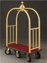 glaro inc. signature series bellman carts satin brass 6 wheels