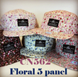 Floral 5 Panel Hats - Small Flowers