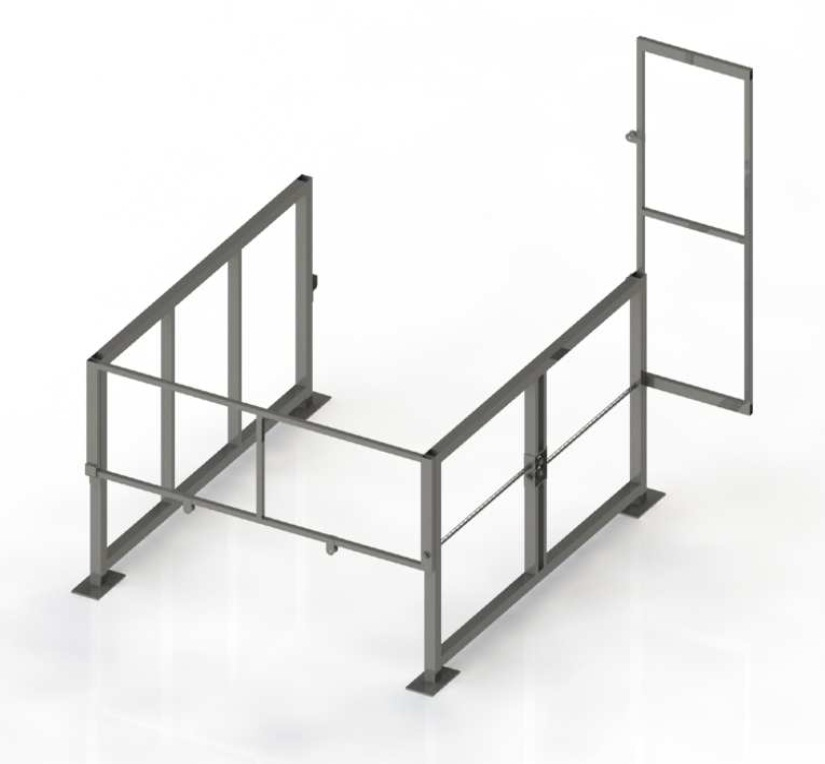 Mezzanine Pallet Gate : The 'clear height mezzanine safety gate by benko products