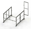 The 'Clear-Height' Mezzanine Safety Gate by Benko Products Protects...