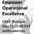 Free webinar Thursday, May 15, 11:00am EST go to usebi.com/ops to register