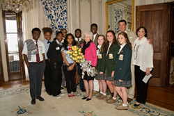 Mrs. Phyllis M. Taylor, Ron Forman, and Susan M. Taylor with 2013/2014 Taylor Scholars at the 2014 Taylor Scholars Announcement.