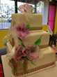 Isomalt Flowers and iDesigns decorations on a cake by Peggy Tucker, CMSA