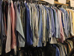 clothes at the VNA Rummage Sale