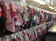 children's clothes at the VNA Rummage Sale