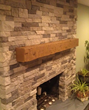 Fake wood mantle