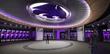 Rendering of locker room at Vanier Football Complex at Kansas State University
