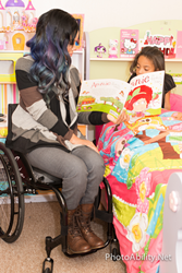 Mother who uses a wheelchair reads bedtime story