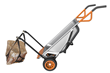 WORX AeroCart's mesh sling provides support when moving landscape rocks