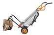 WORX AeroCart's mesh sling provides support when moving landscape rocks