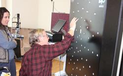 Patient using Dynavision equipment