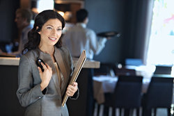Two-way radios keep managers informed instantly of any service or food issues that require their attention.