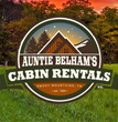 Company logo for Auntie Belham's Cabin Rentals in Pigeon Forge.