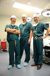 Surgeons Dr. Kaixuan Liu, Dr.Fabian Bitan, and Dr. Rae Aranas