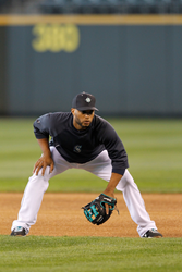 Robinson Cano and his Wilson baseball glove