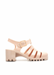 Nude '90s Throwback Jelly Sandal