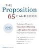 Proposition 65 Handbook - 2013 Edition