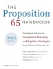 Save 25% on the Proposition 65 Handbook - 2013 Edition Through August...