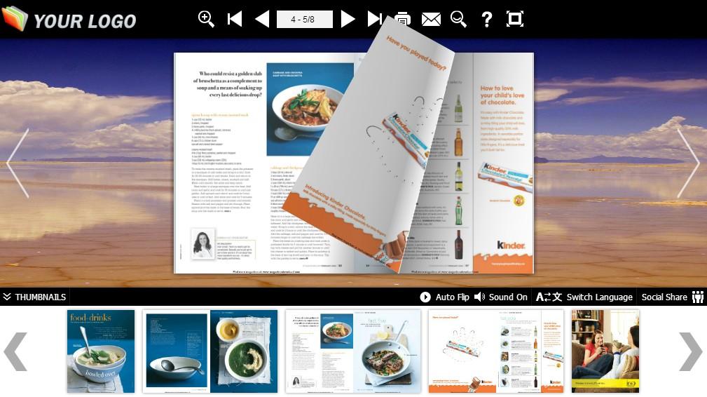 convert pdf files to flash flip book free