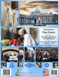 Pope Francis travels and pictures on back cover.