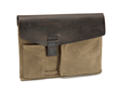 "Outback Solo for MacBook Air—tan waxed canvas and premium ""chocolate"" leather"
