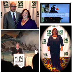 2014 NWF Connie Awards: President Bill Clinton and attendees Ariana Ayu and David Robb