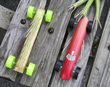 Try your hand at making a derby car from a stalk of rhubarb and race it on the track.