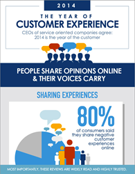 Social Stats in Customer Experience Infographic