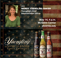 PHOTO: Wendy Yuengling Baker to speak at Alvernia University