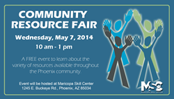 Maricopa Skill Center, Community Resource Fair, May 7 2014