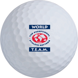 World T.E.A.M. Sports golf ball.