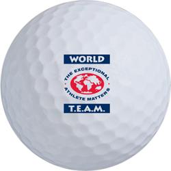 World T.E.A.M. Sports golf ball.