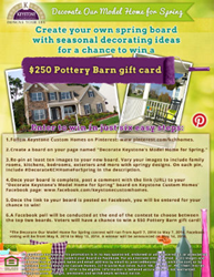 Keystone Custom Homes Pinterest Contest