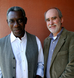 Yusef Komunyakka and Dr. David Havird (R)