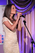 "Actress/singer Lauren Mayhew performs ""Rainbow Connection,"" a song written by Paul Williams, at the 11th Annual Triumph For Teens Awards gala."