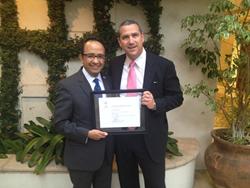 Consul Carlos Gonzalez Gutierrez and Lawyer Eric Ratinoff