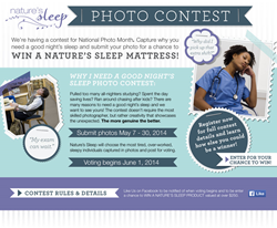 Memory Foam Mattress Photo Contest