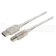 Clear Jacketed USB 2.0 Premium Cable