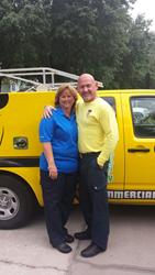 Truly Nolen owners Dean Eddy and Mrs. Eddy