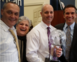 Matt Kombrink receiving the Circle of Legends award