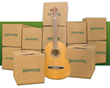 my Bekins Boxes and guitar
