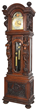 R.J. Horner Oak 9 Tube Grandfather Clock