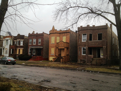 500 Block N Central Park Ave before rehab
