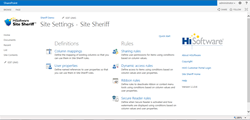 Screen Shot of Site Sheriff Administration Screen