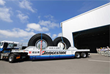 """Bigger and Better: Another """"Off-Road Radial"""" tire leaves the factory."""