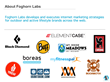 Foghorn Labs Outdoor Industry Client List