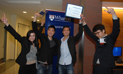 Wharton BPC 2014 GP Winners Slidejoy-from left_Diana Kattan_Jaeho Chung_Robert Seo_Sanghoon Kwak