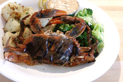 Blackened Grilled Soft Crab with Broccoli